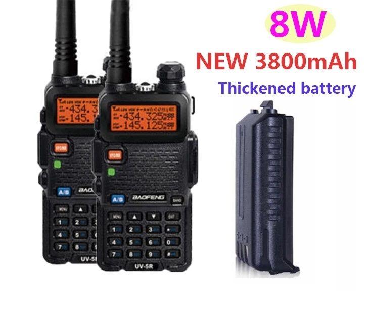Statie Walkie Talkie Baofeng UV5R, 8w, 3800mA, 2021 produs Original