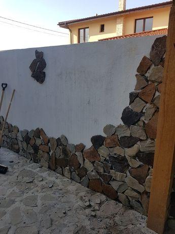 Vindem piatra naturală pentru placat aleei socluri garduri