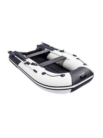Лодка Ривьера Компакт 2900 НДНД Комби светло-серый/черный