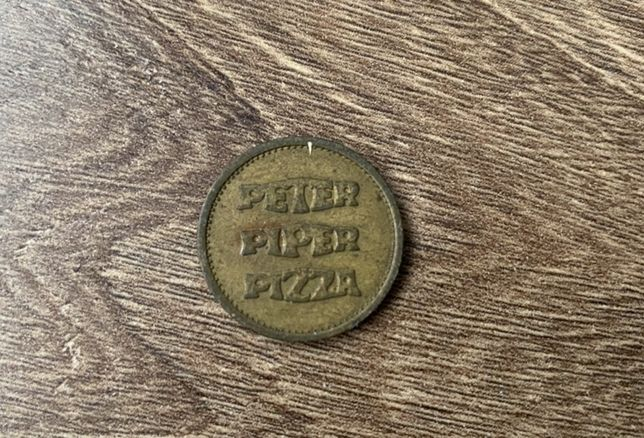 "Moneda Peter Pepper Pizza ""No cash value"""