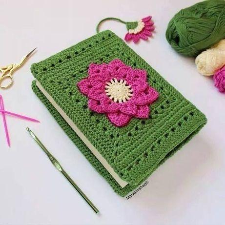 Плетена подвързия за книга и телефон