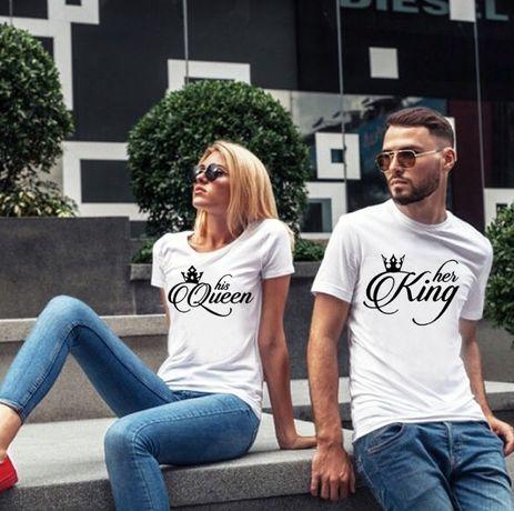 НОВО! За ВЛЮБЕНИ! New King & New Queen LOVE тениски! Или с твоя идея