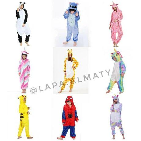 Огромный выбор пижам Кигуруми! Единорог Стич Пикачу Жираф панда