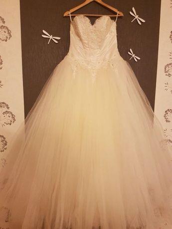 Свадебное платье + подарок перчатки с деадемой!