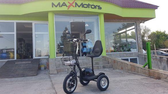 MAXMOTORS електрически скутер триколка 500W A2 BLACK ALLROAD