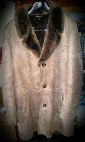 Palton oaie piele si blana naturale de tip Alain Delon, made Austria