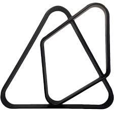 triunghi echer bile de biliard 57,2 mm, plastic sau lemn, romb bila 9