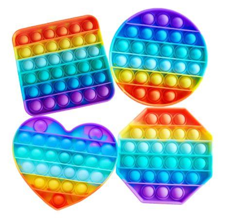 Големи Popit СЪРЦЕ Heart pump Rainbow Pop it попит ДЪГА / всички fidge гр. Бургас - image 1
