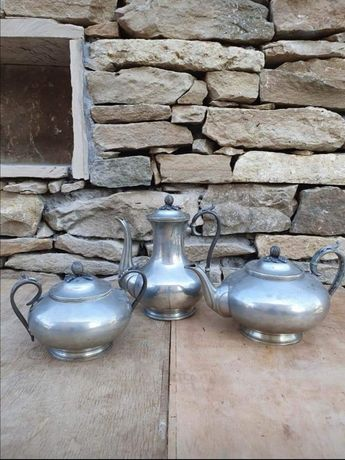 Сребърен сет за чай/кафе