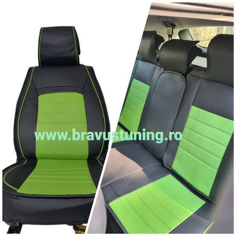 Huse scaun auto Piele Eco Golf 4, clio,Polo, Seat ibiza,Logan etc