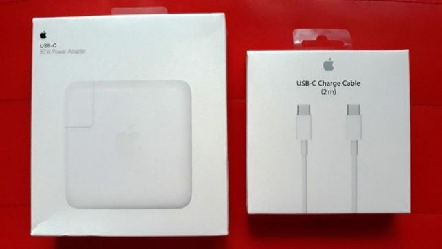 "Incarcator priza +Cablu USB-C 87W ORIGINAL Apple Macbook Pro 15"" A1707"