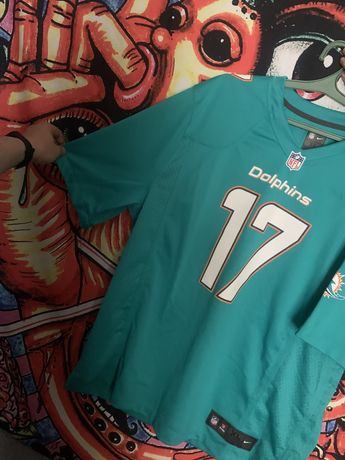NFL Miami Dolphins #17 Ryan Tannehill Turquoise Nike On Field Jersey