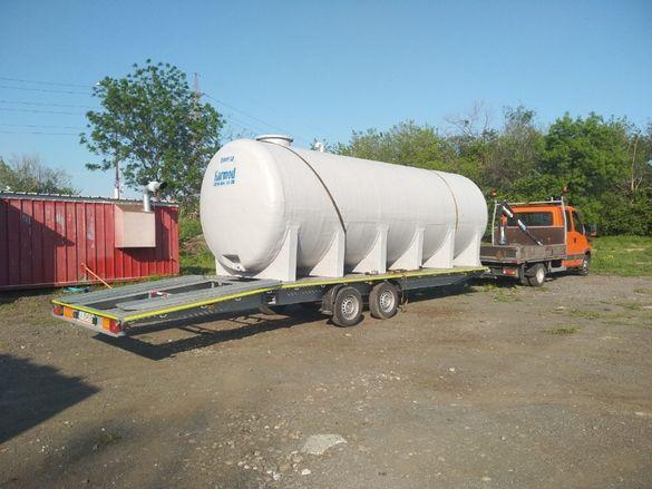 Цистерна за транспортиране 10 000л. за земеделски камиони и платформ