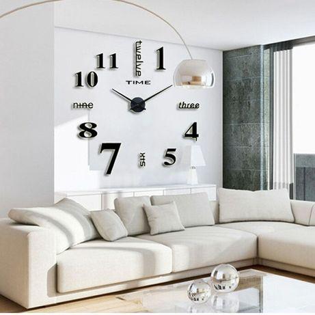 3D ЧАСЫ , Большие часы , Настенные часы ,Часы для дома , Офисные часы