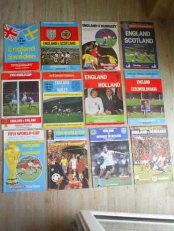 Оригинални футболни програми на Англия от 1968 до 1985 г.