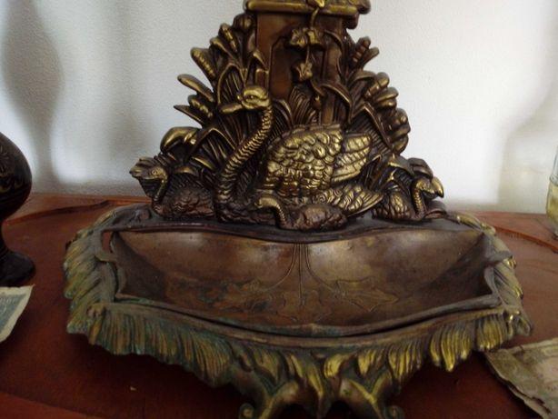Cenusar/ Suport vintage antic bronz masiv