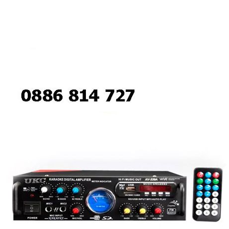 Аудио усилвател-AV-339A 1000W (2 х 500W), домашен усилвател, bluetooth