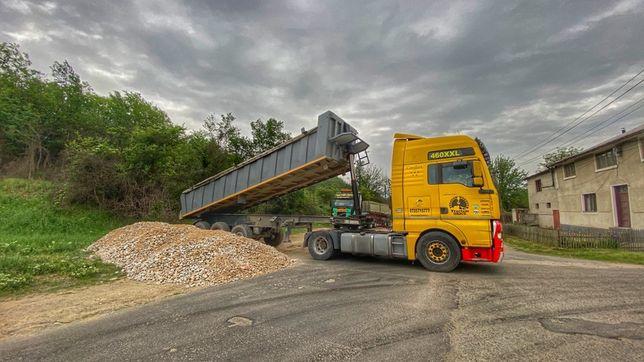 Transportam piatra deseuri nisip balastru pamant surplus din excavari