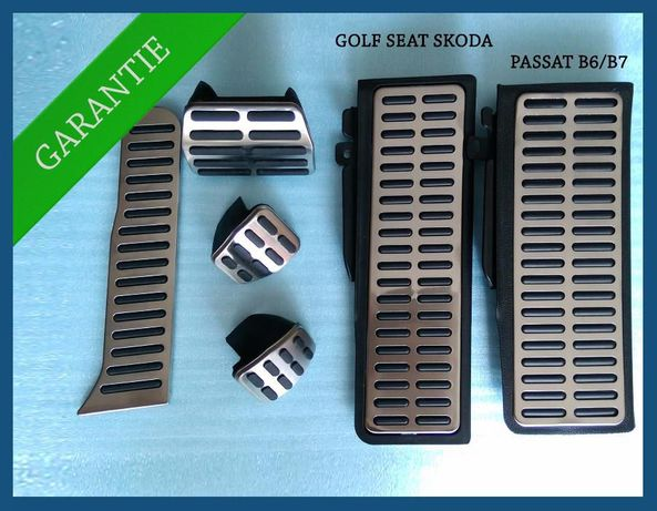 Pedale din INOX + Footrest pentru VW Golf 5/6 Passat B6 B7 SKODA SEAT
