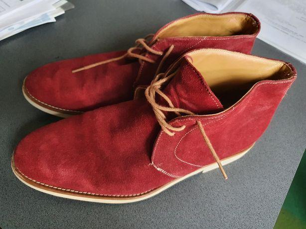 Pantofi piele interior exterior 43 talpa usoară culoare visiniu bordo