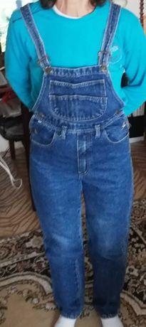 Jeans salopeta fete femei marimea M