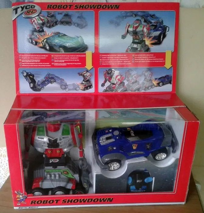 Tyco R/C Robot Showdown Mattel robot, masina teleghidata, telecomanda Santana - imagine 1