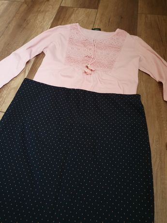 Outfit/tinuta formata din fusta si camasa gen ie waikiki