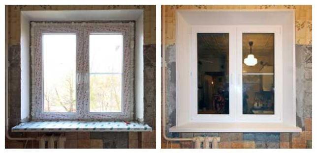 Откосы пластиковые на окна и двери, подоконники, отливы