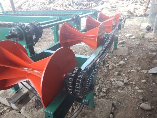 Rampa Bustean, Transportor mixt cu lant/ Conveior