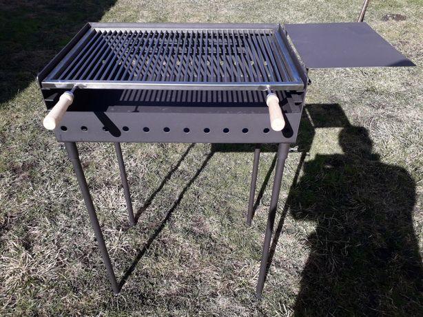 Gratar de gradina reglabil pe 3 niveluri 60x40 cu grill inox