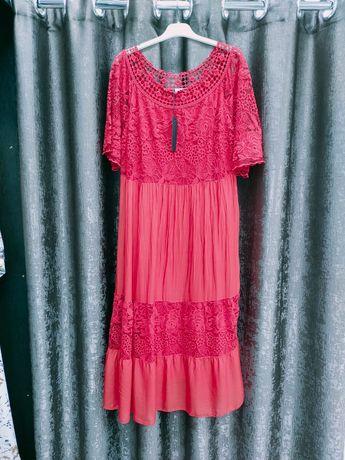 Платье новое из шелка италия