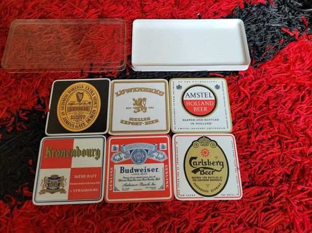 set 6 costere bere , noi, de colectie Shuberth made in W. Germany
