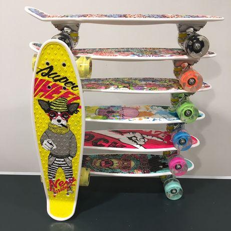 Пени борд / Penny board / Пениборд, светещи колела