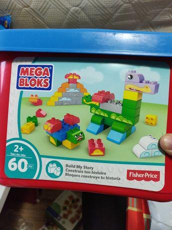 cuburi de constructie Mega Bloks blocks 60 piese copii 2-5 ani
