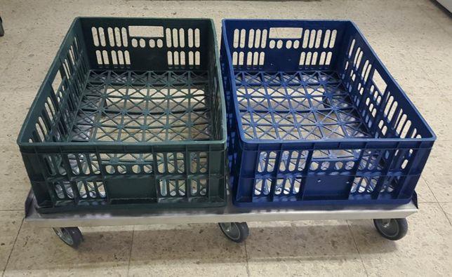 15 carucioare duble pentru transport navete de paine