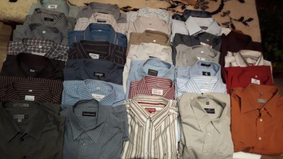 38 бр.мъжки ризи с дълъг ръкав,без забележки цена 5 лв.за брой