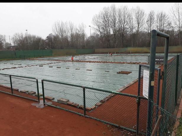 Prelata folie cort protectie acoperit teren tenis 16 x 16 m. Buc 8
