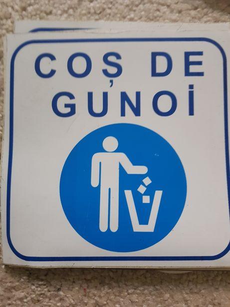 Autocolant / sticker Indicare , Atenție, H