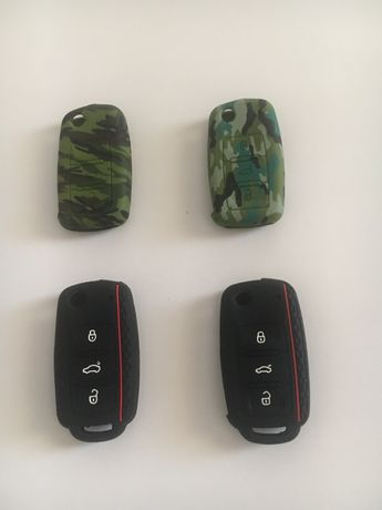Husa Silicon pentru cheia cu 3 Butoane VW