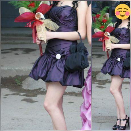 Бална рокля в лилаво + чанта