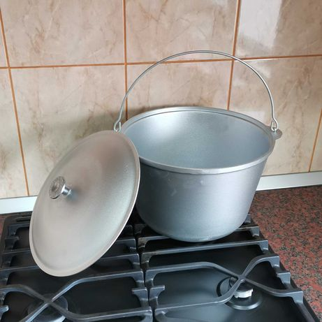 Ceaun aluminiu import Ucraina 8 L cu capac