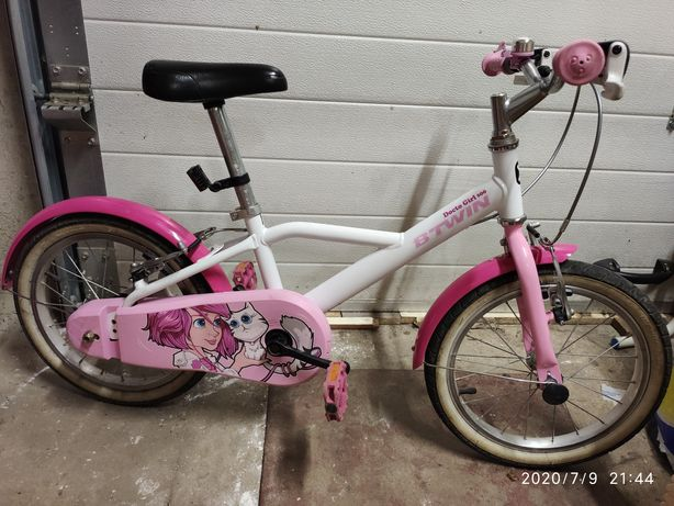 """Bicicletă 16"""" DOCTO GIRL fete 4-6 ani Btwin"""