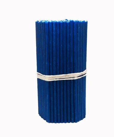 Свечи восковые Синие и фиолетовые