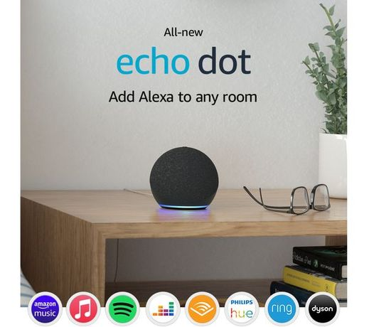 Amazon Alexa, boxa smart Echo Dot 4, Wi-Fi, Bluetooth, negru