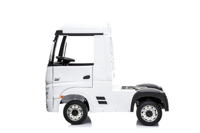 Camion electric copii Mercedes ACTROS 4x4 180W 12V PREMIUM #Alb