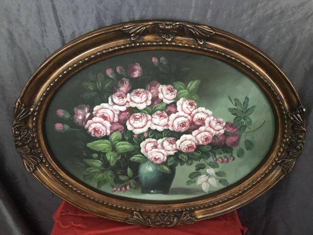 Tablou oval,pictura
