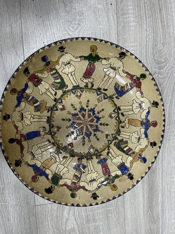 Farfurie ceramica veche de colectie interbelica fratii Tompea
