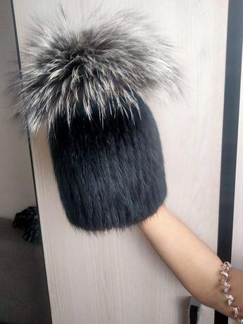 Продам шапку норка опушка чернобурка