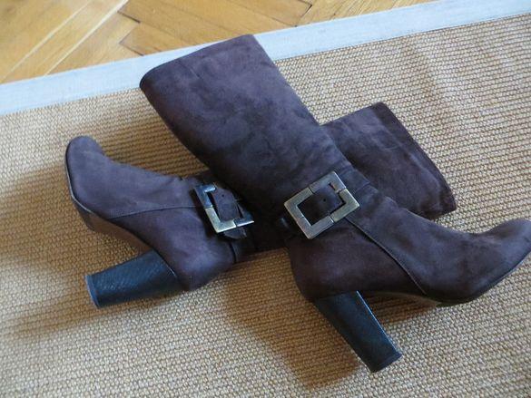Дамски ботуши Джи Ани от естествен велур