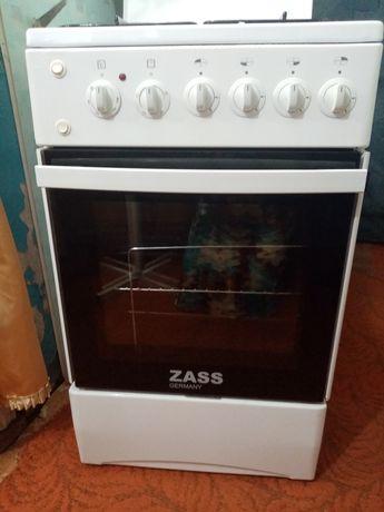 Продам газовую плиту Zass 5640 Германия, электрическая духовка